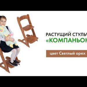 Растущий стул ДВИЖЕНИЕ - ЖИЗНЬ Компаньон цвет Светлый орех