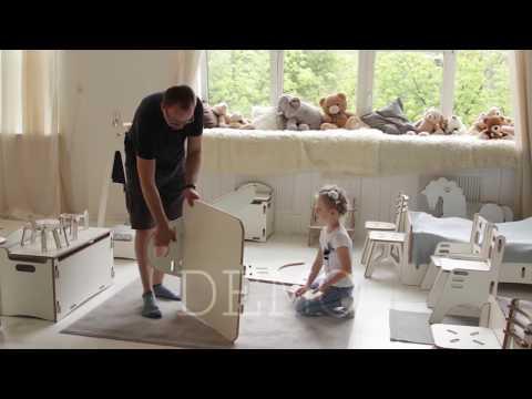 "Детский растущий стол MARTIN MK-2-01 ""Белый"""